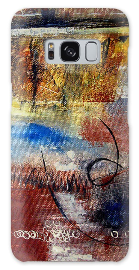 Abstract Galaxy Case featuring the painting Raw Emotions by Ruth Palmer