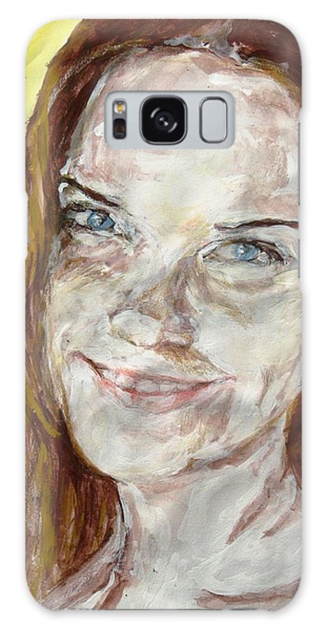 Rayah Newman Galaxy S8 Case featuring the drawing Rayah Newman, Portrait by Sviatoslav Alexakhin