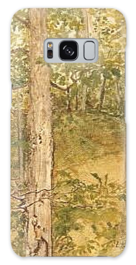 Trees Galaxy S8 Case featuring the painting Raystown Lake by Leah Tomaino