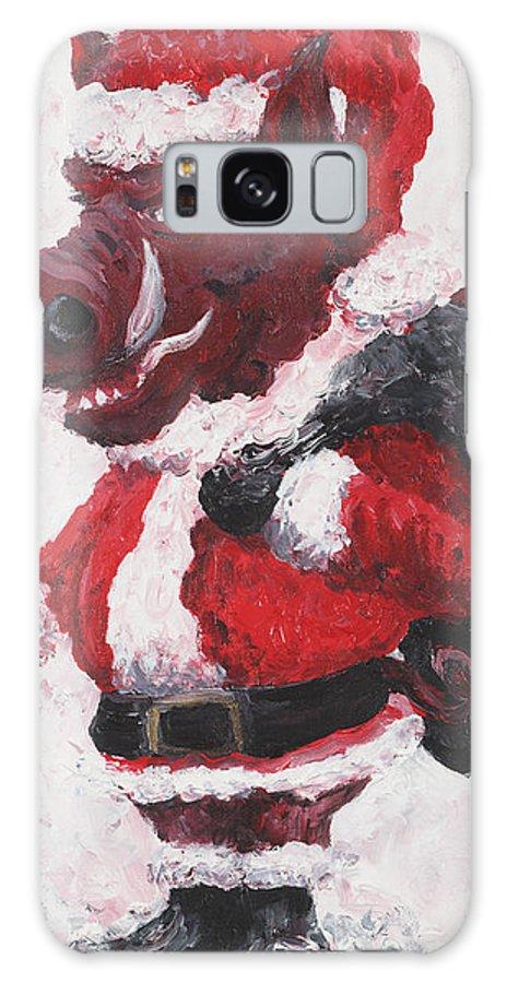 Santa Galaxy S8 Case featuring the painting Razorback Santa by Nadine Rippelmeyer