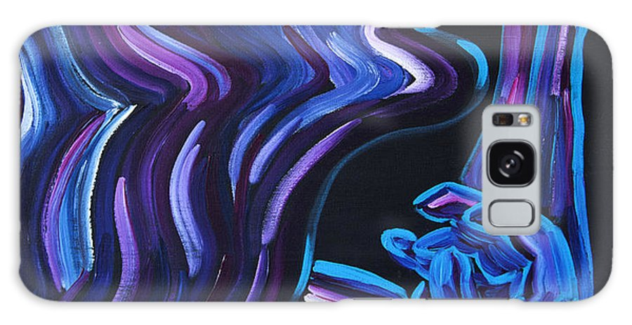 Figure Galaxy S8 Case featuring the painting Reach by JoAnn DePolo