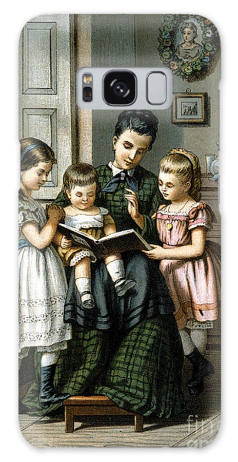 1870 Galaxy S8 Case featuring the photograph Reading To The Children by Granger