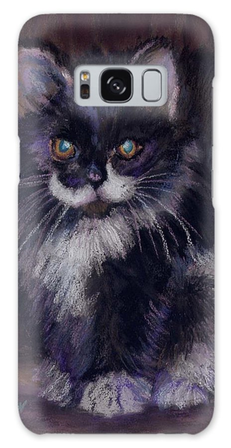 Kitten Galaxy S8 Case featuring the painting Ready For Trouble by Sharon E Allen