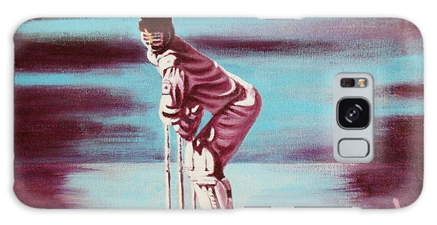 Galaxy S8 Case featuring the painting Ready To Bat by Usha Shantharam