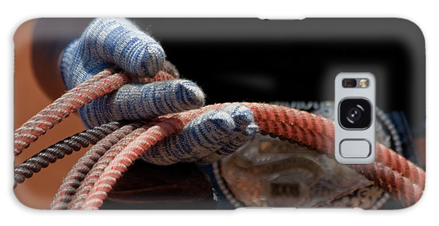 Cowgirl Galaxy S8 Case featuring the photograph Ready To Rope by Roger Mullenhour