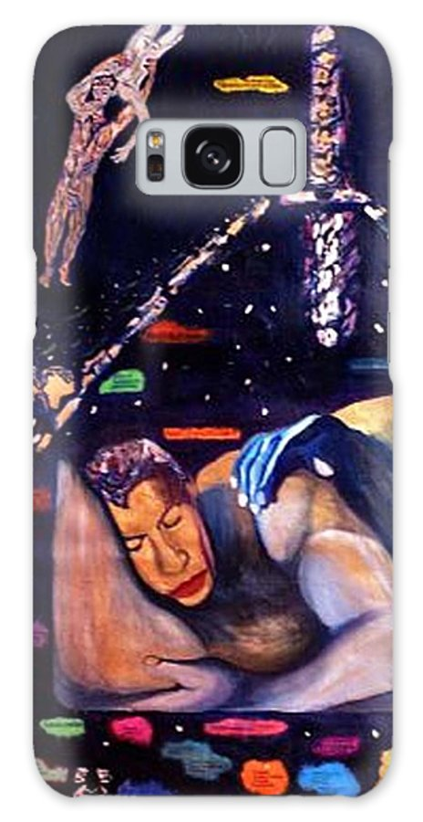 Nudes Galaxy Case featuring the painting Realities Which Will Be Artifacts by Stephen Mead
