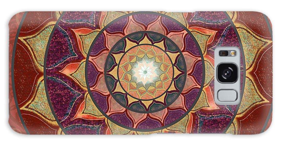 Mandala Galaxy S8 Case featuring the digital art Realm Of The Desert Lotus Mandala by Elizabeth Alexander