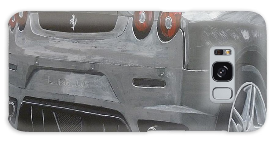 Ferrari Galaxy S8 Case featuring the painting Rear Ferrari F430 by Richard Le Page