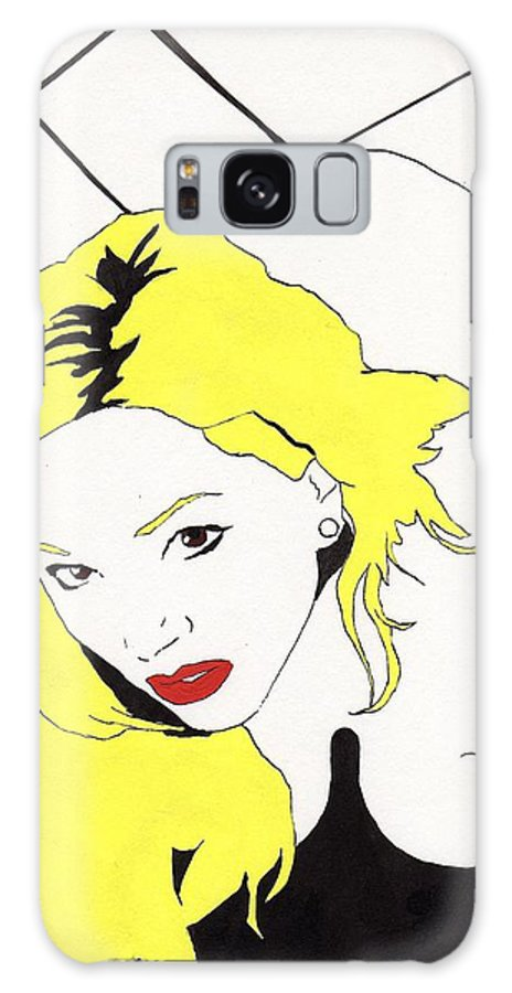 Nude Portrait Female Galaxy Case featuring the drawing Rear Window by Stephen Panoushek