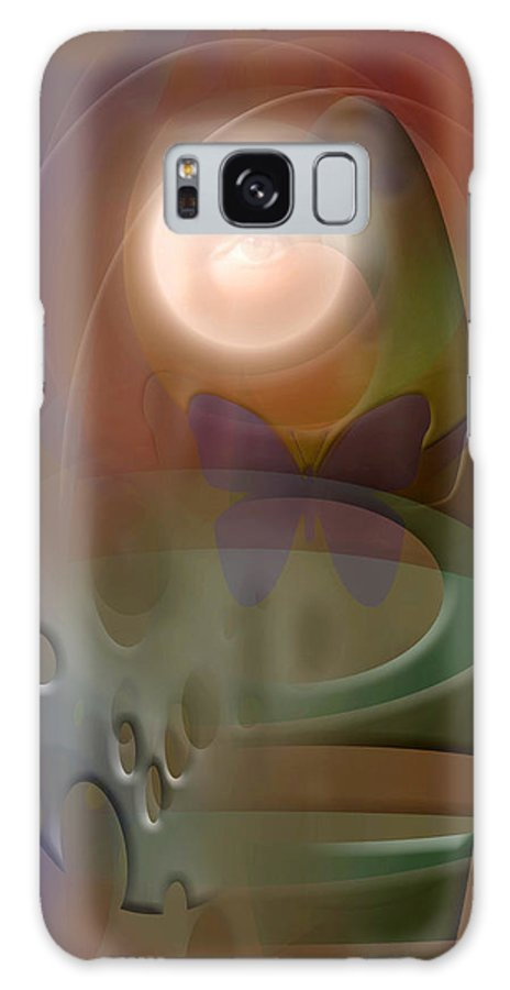 Abstract Galaxy S8 Case featuring the digital art Rebirth by Stephen Lucas