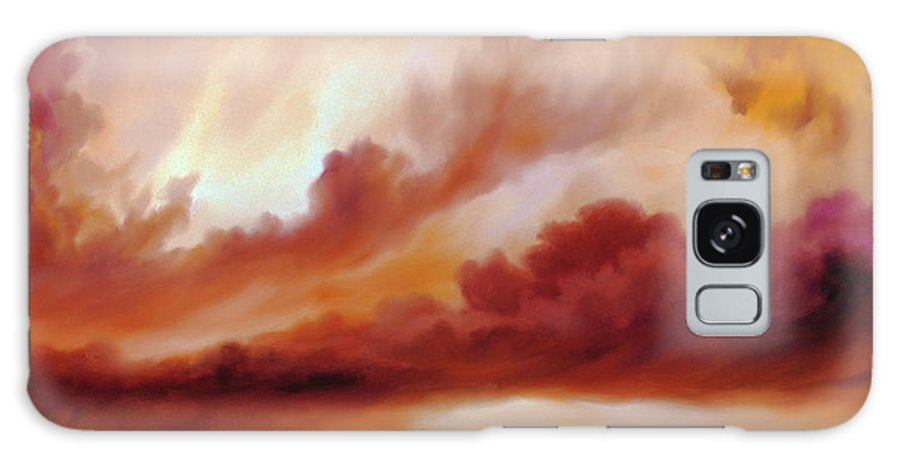 Skyscape Galaxy Case featuring the painting Receding Storm Sketch IIi by James Christopher Hill