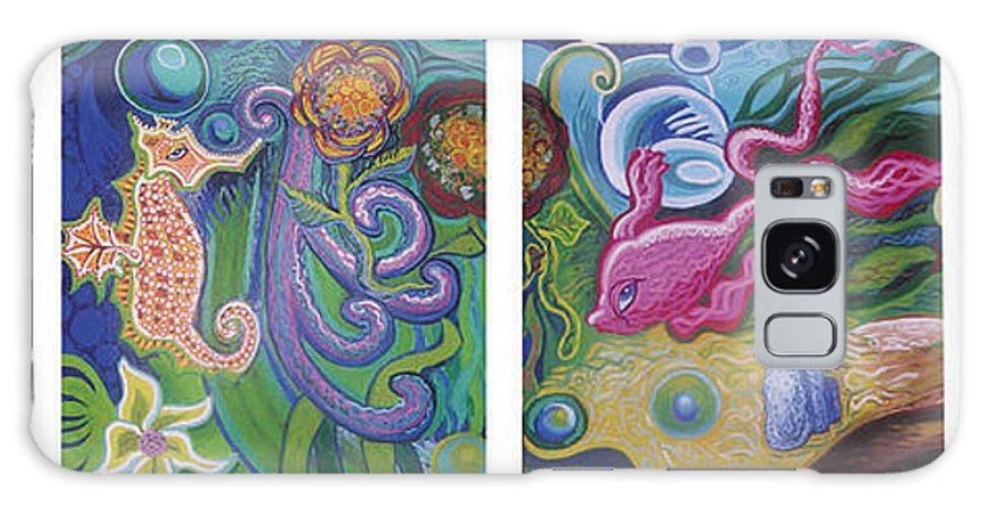 Reciprocal Liason Of The Sea Galaxy S8 Case featuring the painting Reciprocal Liason Of The Sea by Genevieve Esson