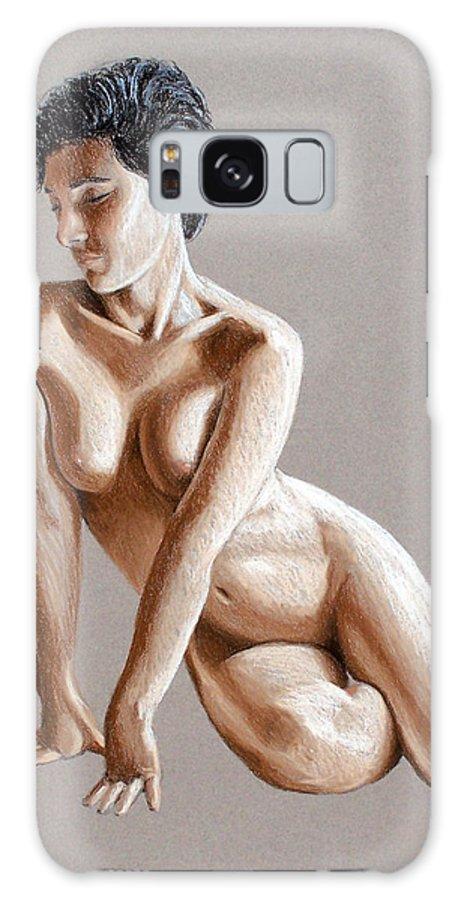 Joe Ogle Galaxy Case featuring the painting Reclining Figure by Joseph Ogle