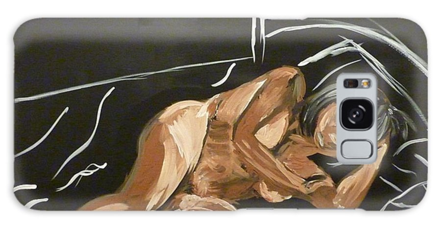 Nude Galaxy S8 Case featuring the painting Reclining Nude by Joshua Redman