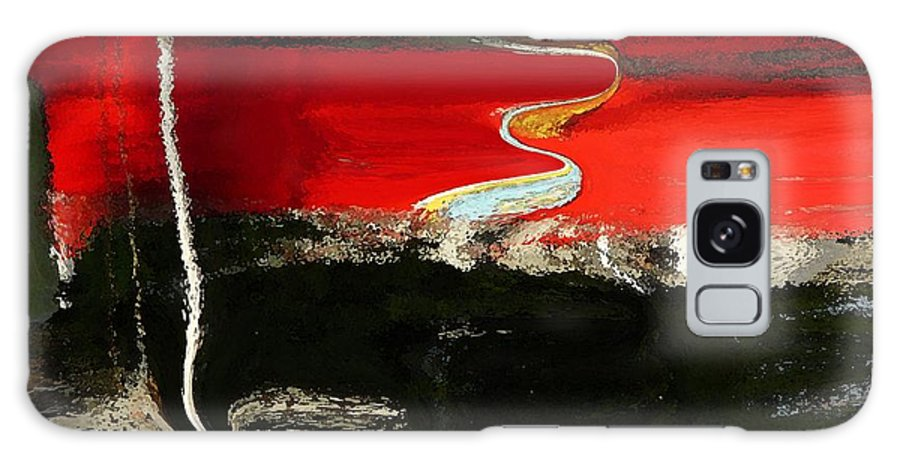 Abstract Galaxy S8 Case featuring the digital art Red Alert by Florene Welebny