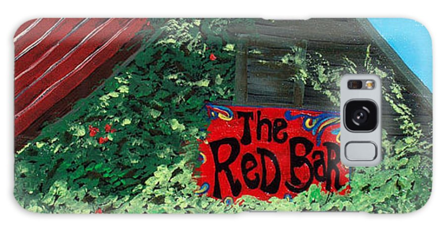 Red Bar Galaxy Case featuring the painting Red Bar - Grayton Beach by Racquel Morgan
