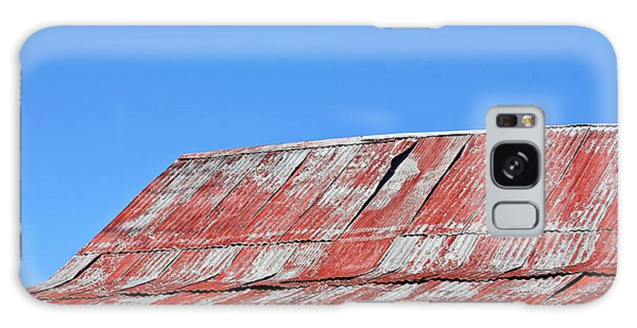 Barn Galaxy S8 Case featuring the photograph Red Barn And Blue Sky- Fine Art by KayeCee Spain