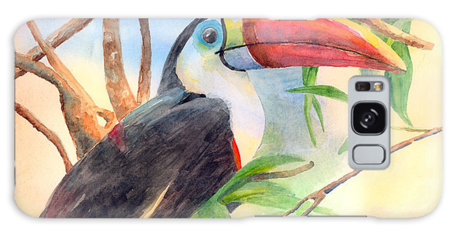 Toucan Galaxy S8 Case featuring the painting Red-billed Toucan by Arline Wagner