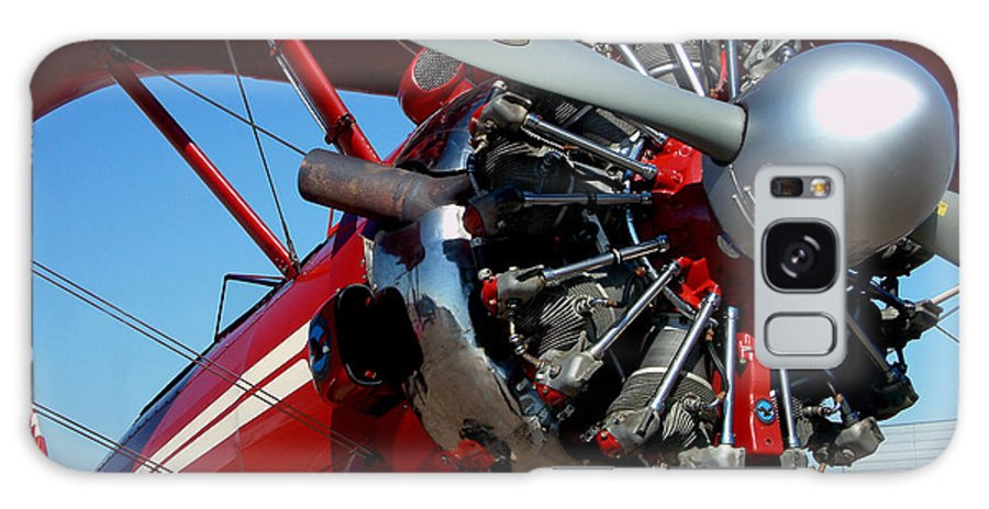 Plane Galaxy S8 Case featuring the photograph Red Biplane by Mark Grayden