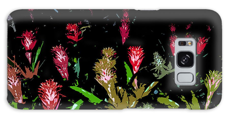 Red Galaxy S8 Case featuring the painting Red Blooms by David Lee Thompson