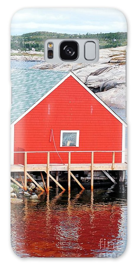 Red Galaxy S8 Case featuring the photograph Red Boathouse by Kathleen Struckle