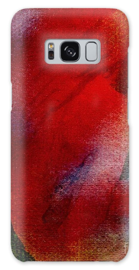 Nude Galaxy S8 Case featuring the painting Red Boudoir by Susan Kubes