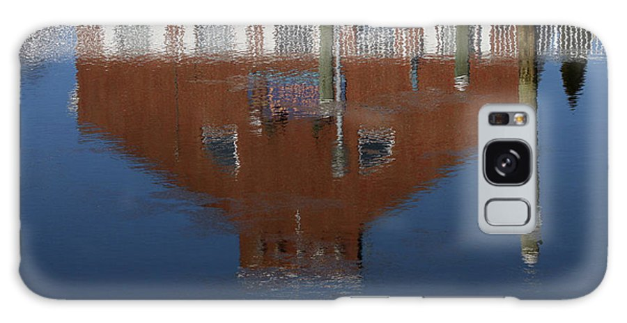 Reflection Galaxy S8 Case featuring the photograph Red Building Reflection by Karol Livote