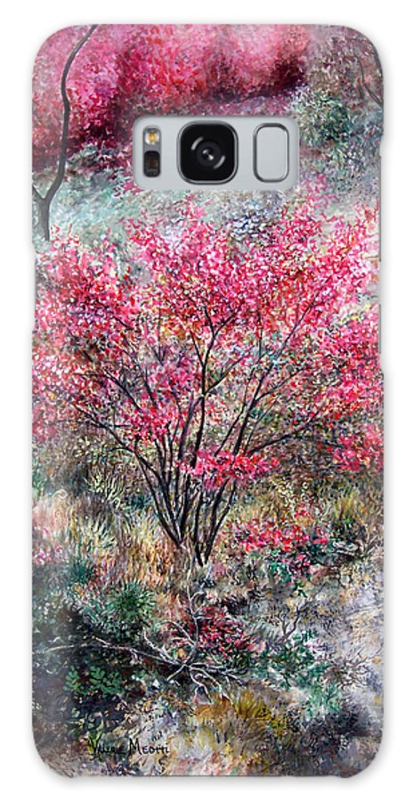 Landscape Galaxy S8 Case featuring the painting Red Bush by Valerie Meotti