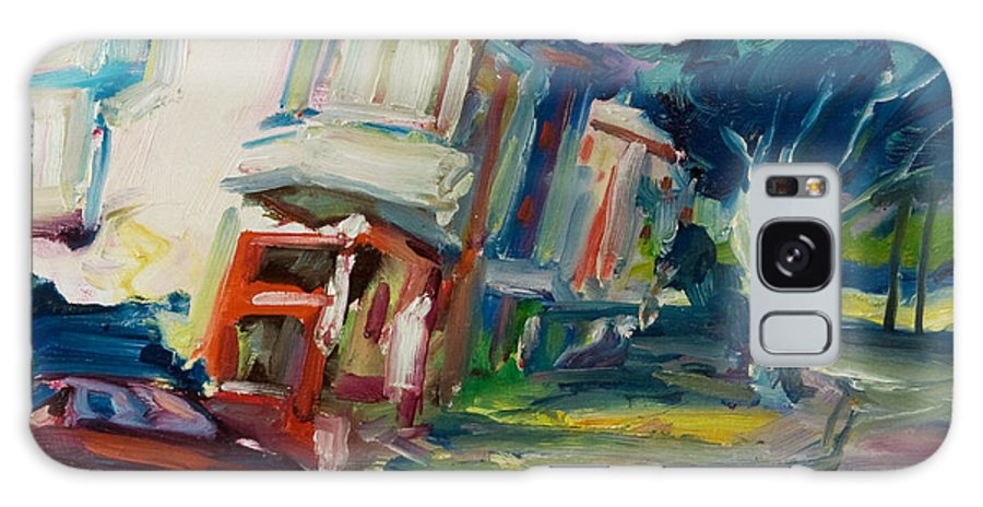 Trees Galaxy Case featuring the painting Red Cafe by Rick Nederlof