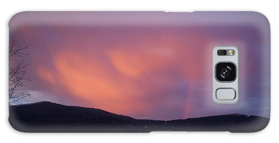 Sunset Galaxy Case featuring the photograph Red Clouds by Toni Berry