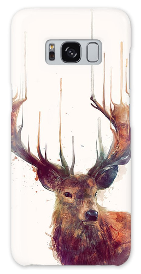Red Deer Galaxy Case featuring the painting Red Deer by Amy Hamilton