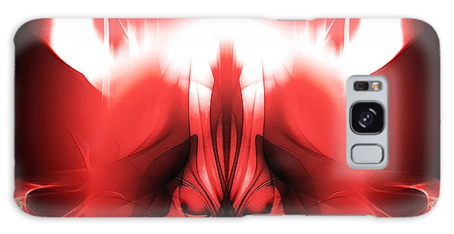 Clay Galaxy Case featuring the digital art Red Descent by Clayton Bruster