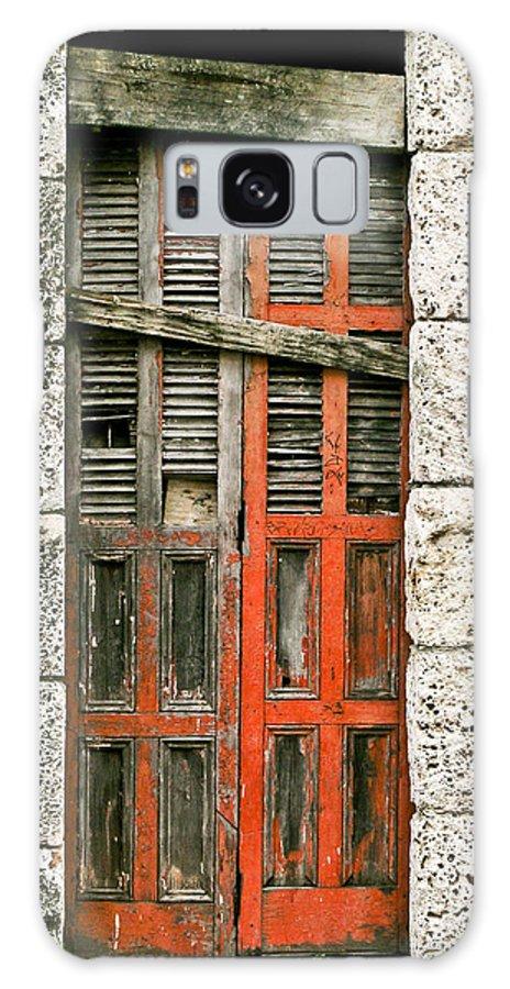 Door Galaxy Case featuring the photograph Red Door by Douglas Barnett