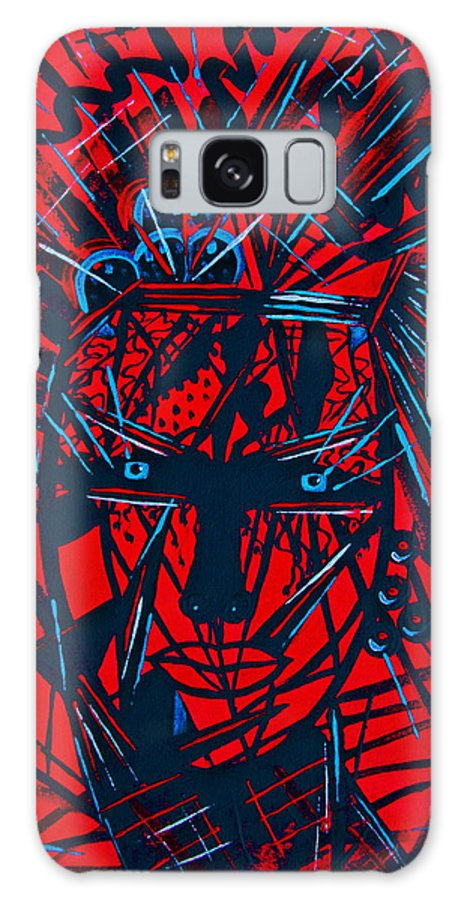 Abstract Galaxy S8 Case featuring the painting Red Exotica by Natalie Holland