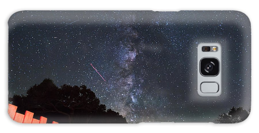 Milky Way Galaxy S8 Case featuring the photograph Red Fence Milky Way by Rick Felty