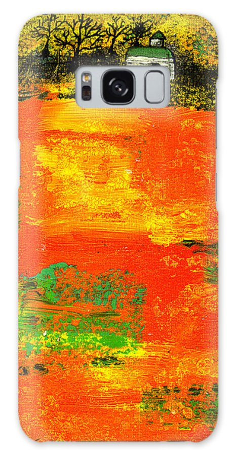 Rural Galaxy Case featuring the painting Red Fields by Wayne Potrafka