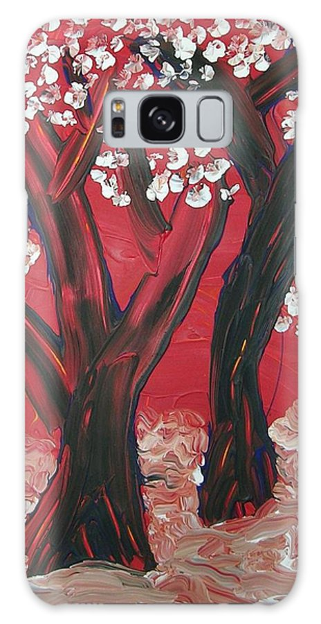 Forest Galaxy S8 Case featuring the painting Red Forest by Joshua Redman