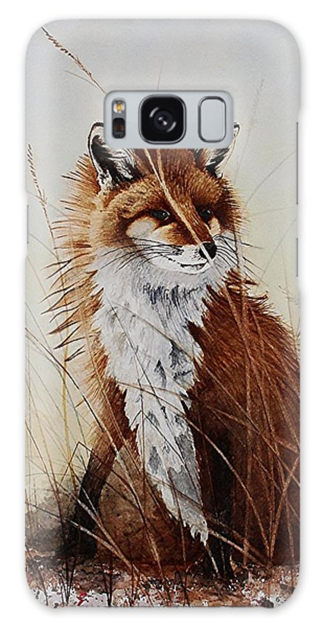 Wildlife Galaxy S8 Case featuring the painting Red Fox Waiting On Breakfast by Jimmy Smith