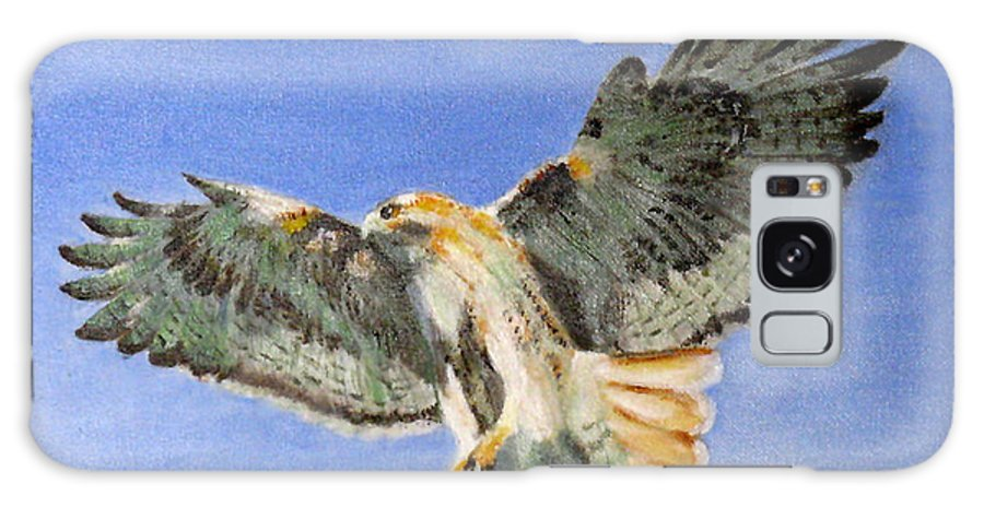 Bird Galaxy S8 Case featuring the painting Red Hawk, 11x14, Oil, '07 by Lac Buffamonti