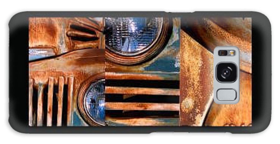 Abstract Photo Of Chevy Truck Galaxy Case featuring the photograph Red Head On by Steve Karol