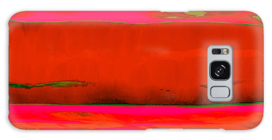 Red Galaxy Case featuring the painting Red Horizon by Vicky Brago-Mitchell