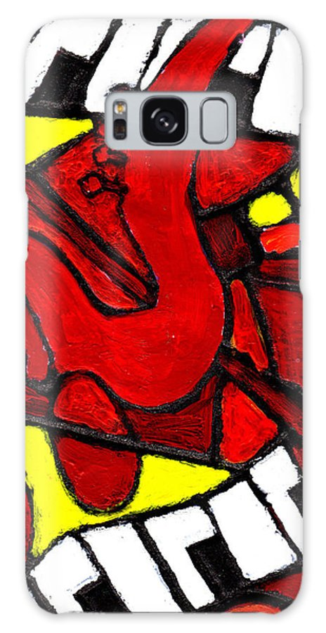 Jazz Galaxy Case featuring the painting Red Hot Jazz by Wayne Potrafka