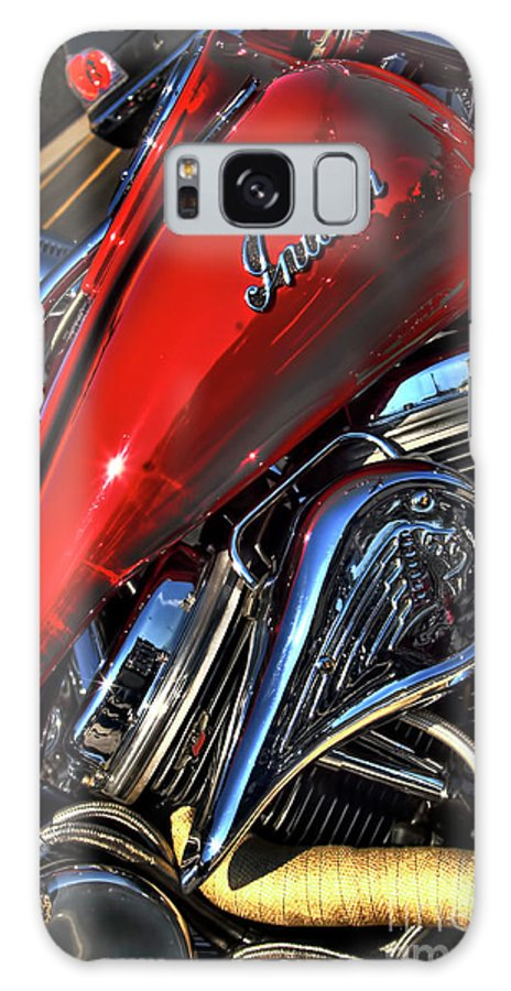 Motorcycle Art Galaxy S8 Case featuring the photograph Red Indian by Corky Willis Atlanta Photography