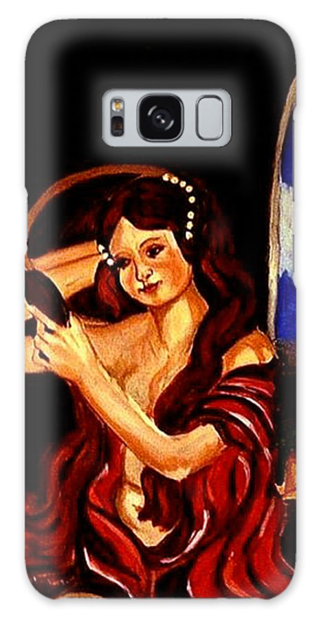 Renaissance Galaxy S8 Case featuring the painting Red Letter Day by Rusty Gladdish