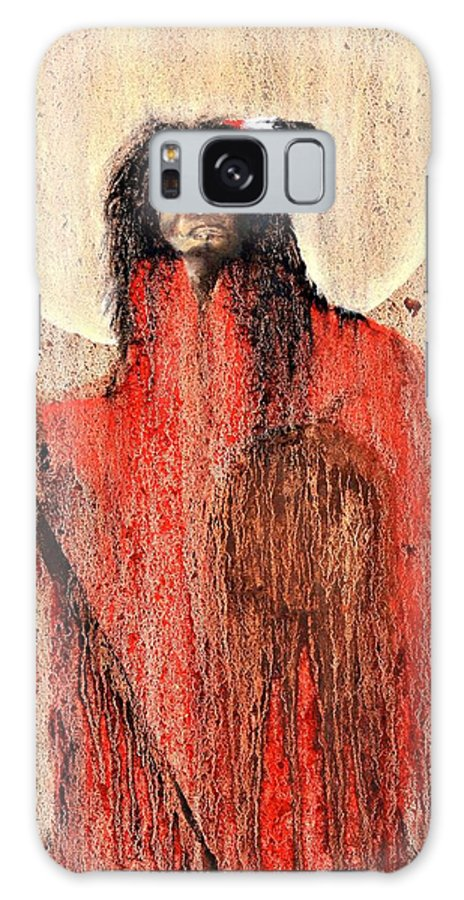 Inspirational Galaxy S8 Case featuring the painting Red Man by Patrick Trotter