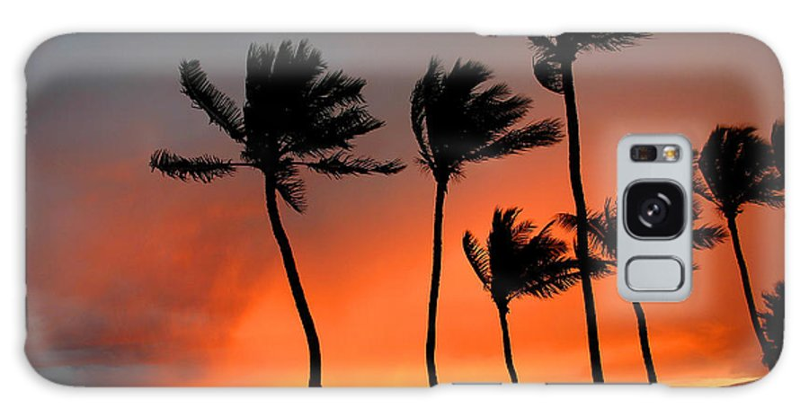 Maui Galaxy S8 Case featuring the photograph Red Maui Sunset Hawaii by Pierre Leclerc Photography