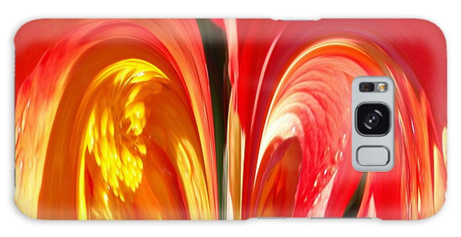 Flowers Galaxy S8 Case featuring the photograph Red N Yellow Flowers 4 by Tim Allen