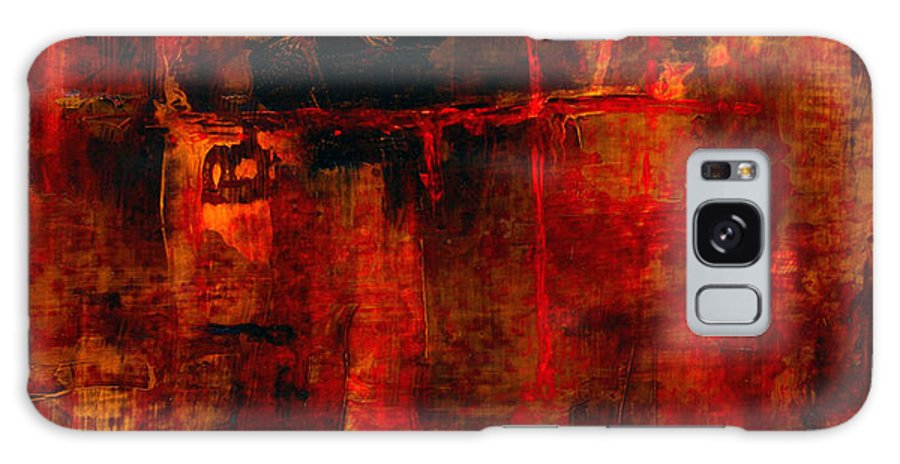 Abstract Painting Galaxy Case featuring the painting Red Odyssey by Pat Saunders-White