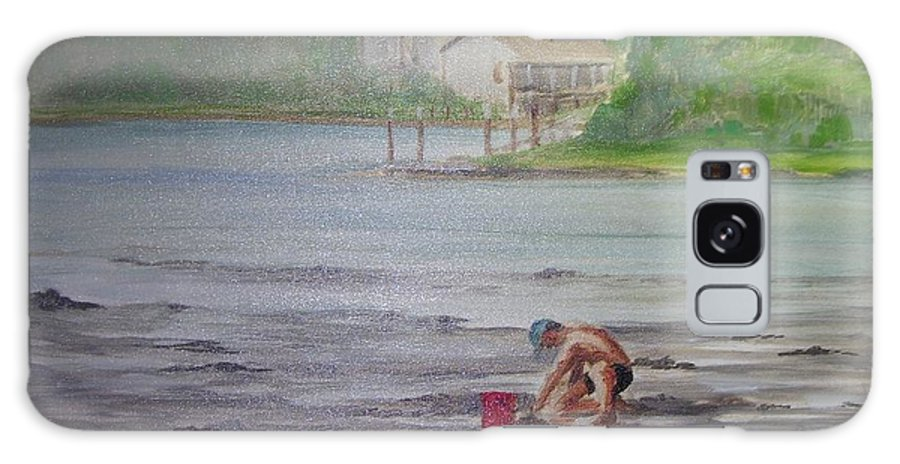 Seashore Galaxy Case featuring the painting Red Pail 11 by Perrys Fine Art