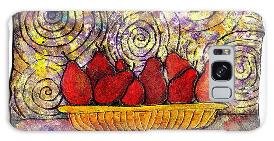 Spirals Galaxy S8 Case featuring the painting Red Pears In A Bowl by Wayne Potrafka